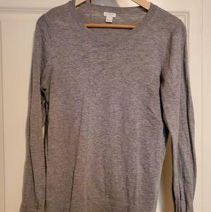 J.crew grey crew neck sweater